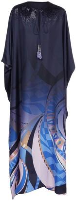 Emilio Pucci Gradient Silk Satin Maxi Caftan Dress