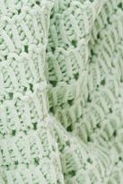 Topshop Knitted Sleeveless Crochet Top