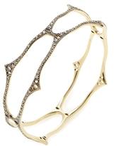 Mizuki 14K Yellow Gold & 1.30 Total Ct. Diamond Wavy Bangle Bracelet