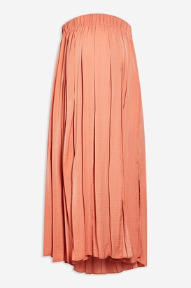 Topshop Womens **Maternity Coral Satin Pleated Skirt - Coral