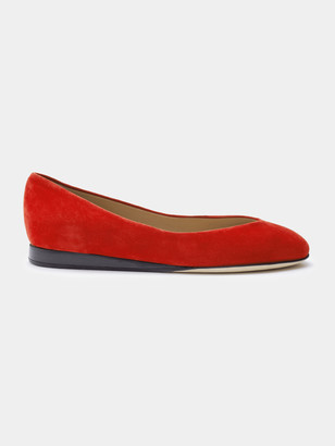 Sclarandis Nina Ballerina Flat Shoes in Red Size 40 Leather