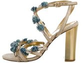 Tory Burch Shell-Embellished Multistrap Sandals