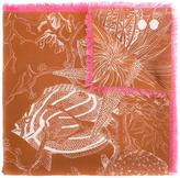 Odeeh sealife print scarf - women - Silk - One Size
