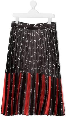 Gaelle Paris Kids Alphabet-Print Pleated Skirt