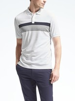 Banana Republic Luxury-Touch Chest-Stripe Polo