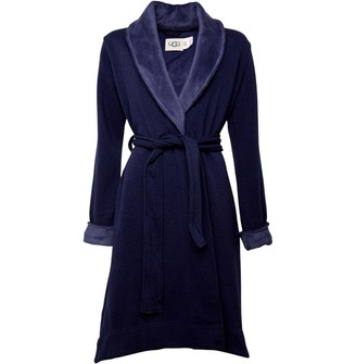 UGG Womens Duffield II Dressing Gown Navy Heather