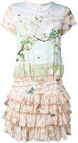 Piccione Piccione Piccione.Piccione - nature print ruffle dress - women - Silk - 40