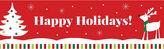 BuySeasons Reindeer Christmas Party Pre-Printed Banner