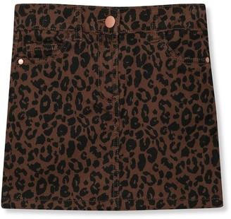 M&Co Leopard print denim skirt (3-12yrs)