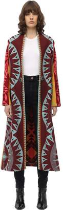 Jessie Western LONG INTARSIA WOOL COAT