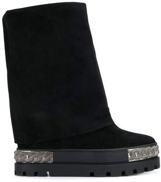 Casadei Chaucer chain embellished boots