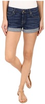 7 For All Mankind Roll Up Shorts in Medium Timeless Blue