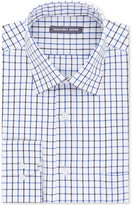 Geoffrey Beene Men's Tall Bedford Cord Classic-Fit Blue Multi Check Dress Shirt