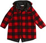 Stella McCartney Square Felt Wool Hooded Coat