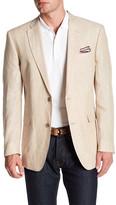 Tommy Hilfiger Light Tan Two Button Notch Lapel Linen Jacket