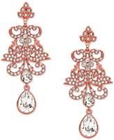 Nina Rose Gold-Tone Crystal Chandelier Earrings