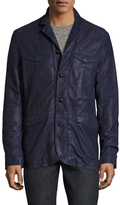 John Varvatos Leather Officers Jacket