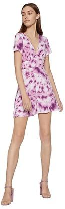 BCBGeneration Day Short Sleeve Knit Dress - TUN6271513 (Lavender Herb) Women's Dress