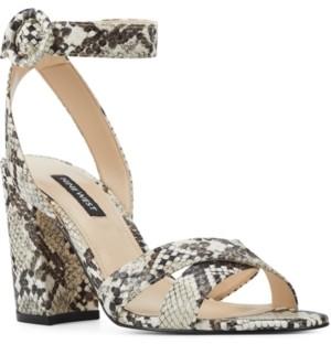 Nine West Nikki Block-Heel Sandals Women's Shoes