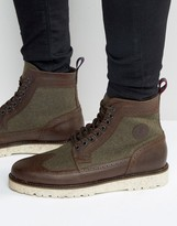 Fred Perry Northgate Leather/Wool Brogue Boots