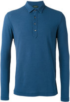 Zanone longsleeved polo shirt - men - Cotton - 48
