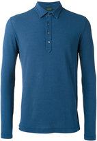 Zanone longsleeved polo shirt - men - Cotton - 56