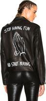 Enfants Riches Deprimes Stop Having Fun Leather Jacket