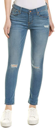 7 For All Mankind Seven 7 Josefina Blue Skinny Boyfriend Jean