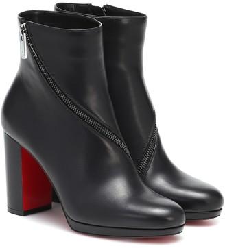 Christian Louboutin Birgitta 100 leather ankle boots