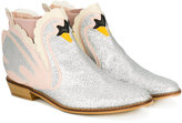 Stella McCartney swan glittered ankle boots