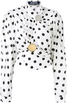 Jacquemus dots print draped blouse - women - Silk/Cotton/Viscose - 36