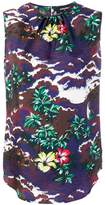 DSQUARED2 floral print tank top