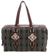 Roberto Cavalli Embroidered Denim Shoulder Bag