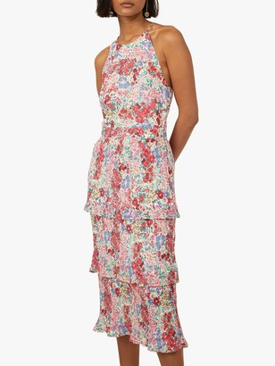 Warehouse Sophia Floral Printed Dress, Pink