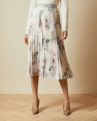 Ted Baker MAZIIY Woodland pleated midi skirt