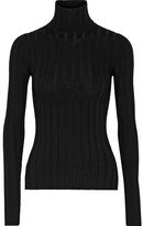 Acne Studios Corin Ribbed Merino Wool-blend Turtleneck Sweater - Black