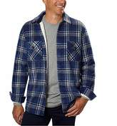 Freedom Foundry Men's Fleece Flannel, Lined Jacket Shirt