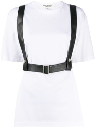 Junya Watanabe Harness Faux-Leather Top