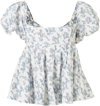 Brock Collection Floral Blouse
