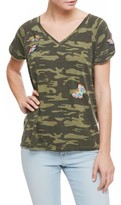 Sanctuary Women's Butterfly Patch Camo Tee
