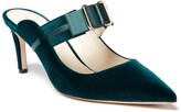 Thumbnail for your product : Mia Becar - Marilyn Mule 70 Emerald Velvet