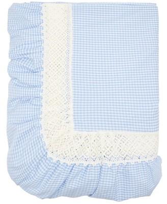 Luisa Beccaria 180cm X 280cm Gingham Cotton-poplin Tablecloth - Blue