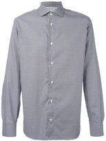 Eleventy gingham check shirt