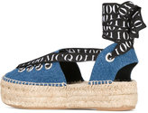 McQ by Alexander McQueen lace-up espadrilles - women - Leather/Cotton/rubber - 39