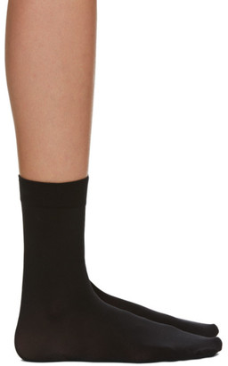 Wolford Black Cotton Socks