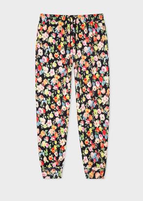 Paul Smith Women's 'Archive Rose' Print Cotton Sweatpants