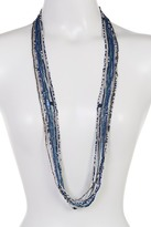 Joe Fresh Long Multi Strand Beaded Necklace