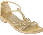 gold knotted 'Griffen' sandals