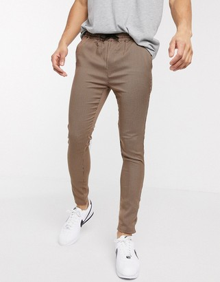 Brave Soul draw string pants small scale check