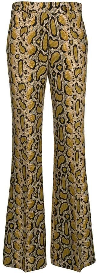 Etro leopard print jacquard trousers